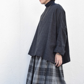 TOUJOURS(トゥジュー) Oversized Basque Shirt(2色展開)【K】