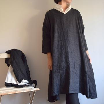 TOUJOURS(トゥジュー) V-Neck Flared Dress(2色展開)【K】
