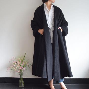 MADISONBLUE(マディソンブルー) DRAPED WRAP COAT【K】
