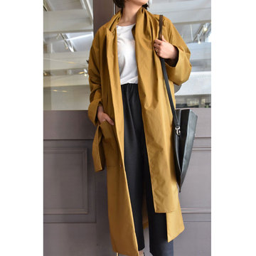 CristaSeya(クリスタセヤ)  Maxi over coat with scarf (Caramel)