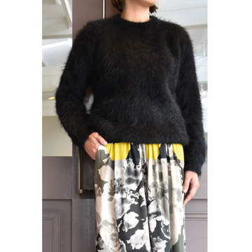 CristaSeya(クリスタセヤ)  Visone sweater (Black)