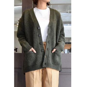CristaSeya(クリスタセヤ)  Shetland maxi cardigan (Spruce)