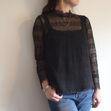 Bilitis dix-sept ans(ビリティス・ディセッタン)Guipure Lace Blouse