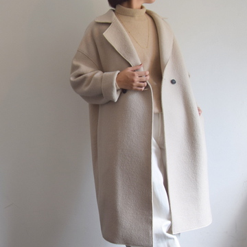 HARRIS WHARF LONDON(ハリスワーフロンドン) Women dropped shoulder d.b. coat