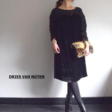 DRIES VAN NOTEN(ドリスヴァンノッテン) DEPPBIS 4397 DRESS 切替えワンピース(2色展開)【K】