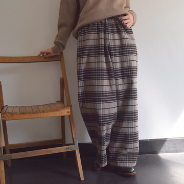 TOUJOURS(トゥジュー) Drawstring Wide Pants【K】