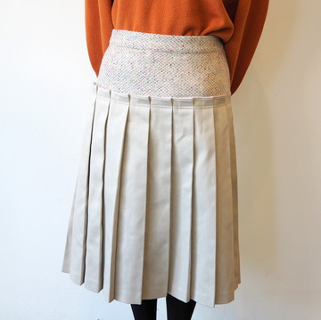 【40% OFF SALE】ASEEDON CLOUD(アシードンクラウド)low-waist pleats skirt【T】