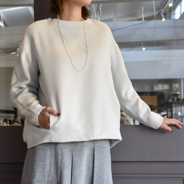 TENNE HANDCRAFTED MODERN(テン ハンドクラフテッドモダン) BACK KNIT PULLOVER/2色展開