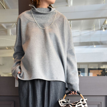 TENNE HANDCRAFTED MODERN(テン ハンドクラフテッドモダン) WEAVE AND KNIT HIGH-NECK PULLOVER/2色展開