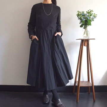 YAECA(ヤエカ) タックドレス【K】