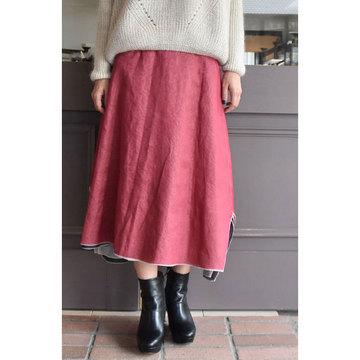 TENNE HANDCRAFTED MODERN(テン ハンドクラフテッドモダン) 4枚スカート(ブラック/ライトグレー/レッド/ライトグリーン)