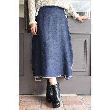TENNE HANDCRAFTED MODERN(テン ハンドクラフテッドモダン) 4枚スカート(ネイビー/ブルーグレー/ピンク/ブラウン)
