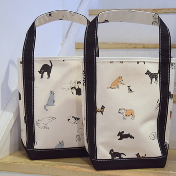 TEMBEA(テンベア) BAGUETTE TOTE SMALL(CAT/DOG) 【K】