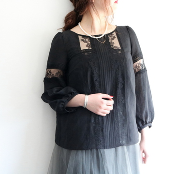 Bilitis dix-sept ans(ビリティス・ディセッタン)Chantilly Chintz Blouse(2色展開)