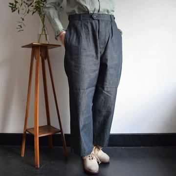 maison de soil(メゾンドソイル)  COMFORTABLE CROPPED PANTS 6.5oz DENIM【K】