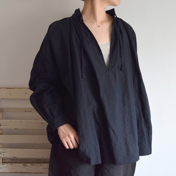 TOUJOURS(トゥジュー) String Surplice Shirt(2色展開)【K】