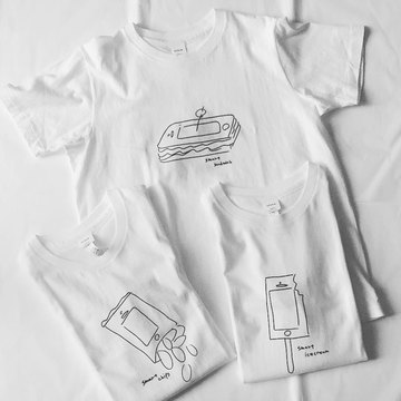 YAECA(ヤエカ) プリントTシャツ(3パターン展開)
