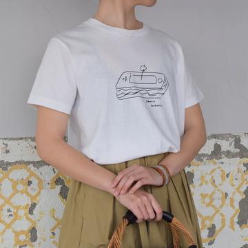 YAECA(ヤエカ) プリントTシャツ(SANDWICH)【K】