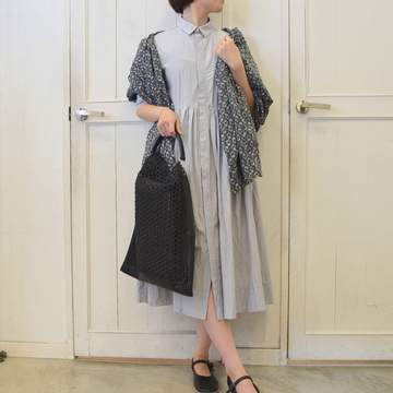 TOUJOURS(トゥジュー)Cotton Silk Half Sleeve Shirt Dress【K】