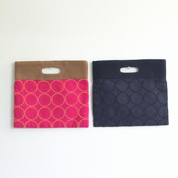 mina perhonen(ミナ ペルホネン) tambourine flag bag(小)(2色展開)
