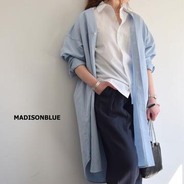 MADISONBLUE(マディソンブルー) NOCOLLAR SHIRT ONEPIECE【K】