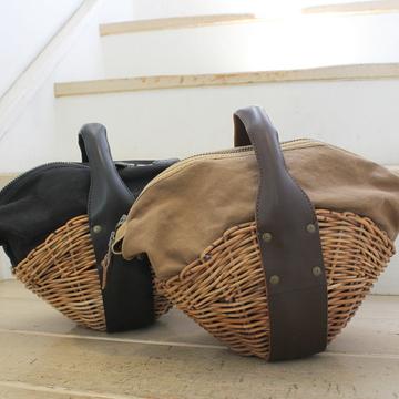 ebagos(エバゴス) kodomo kibun オイルショルダー 帽体バスケット(2色展開)【K】