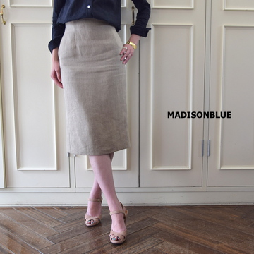MADISONBLUE(マディソンブルー) HIGH WAIST TIGHT SKIRT LINEN【K】