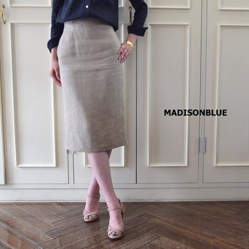 MADISONBLUE(マディソンブルー) HIGH WAIST TIGHT SKIRT LINEN【K】