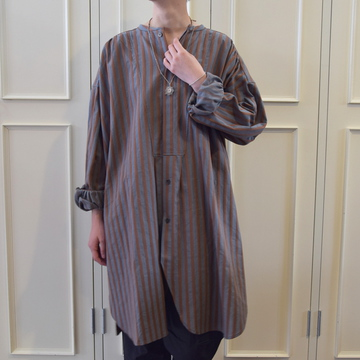 GASA*(ガサ) Hans ストライプスモックシャツ