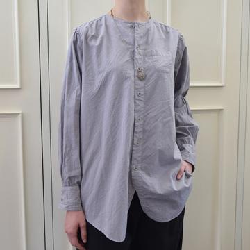 GASA*(ガサ) Sara ノーカラーシャツ