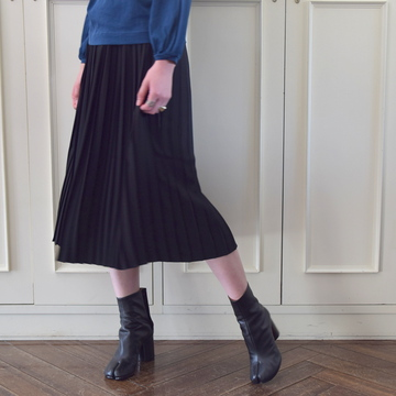 【40%OFF SALE】Graphpaper(グラフペーパー) Satin Pleat Skirt(3色展開) 【K】