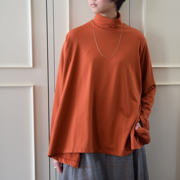 【40%OFF SALE】Graphpaper(グラフペーパー) Lrregular Hem Hight Neck Sweat Shirt (タートルネックフレアスエット)【K】