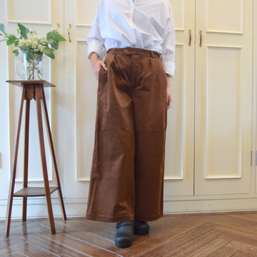 maison de soil(メゾンドソイル)COMFORTABLE CROPPED PANTS - CORDUROY(2色展開)【K】