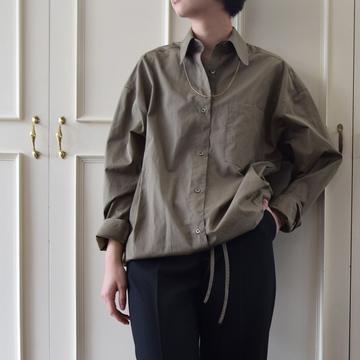 DRIES VAN NOTEN(ドリスヴァンノッテン)W.W.SHIRT(レギュラーカラードローストリングシャツ)【K】