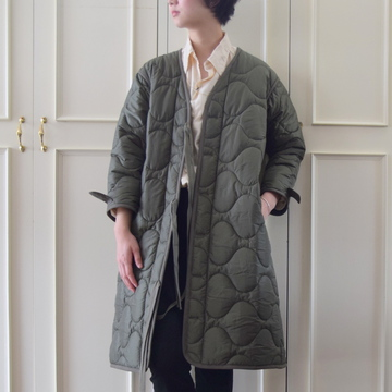MADISONBLUE(マディソンブルー) QUILTING NOCOLLAR COAT【K】