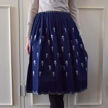 mina perhonen(ミナ ペルホネン) etude skirt WA5104【K】