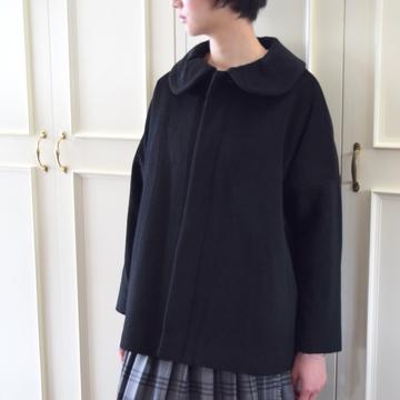GASA*(ガサ) ーBeckyーフレアワイド丸襟コート【K】