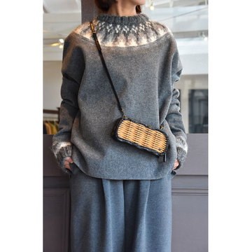 TENNE HANDCRAFTED MODERN(テン ハンドクラフテッドモダン) WEAVE AND ARANKNIT PULLOVER