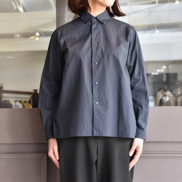 YAECA(ヤエカ) コンフォートシャツリラックス スクエアL(NAVY) #68154