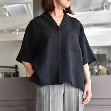 AURALEE(オーラリー) LINEN SUMMER TWEED HALF SLEEVED SHIRT