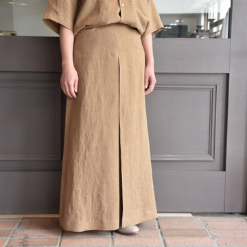 AURALEE(オーラリー) LINEN SUMMER TWEED LONG SKIRT