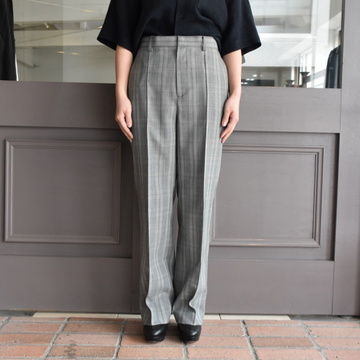 AURALEE(オーラリー) SUMMER WOOL GLEN CHECK SLACKS
