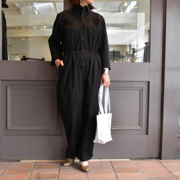 AURALEE(オーラリー) WASHED CAVARLY TWILL JUNPSUIT【K】#A9ST02CT