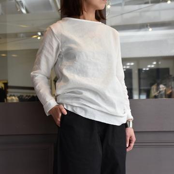 YAECA(ヤエカ) L/S Tシャツ WHITE 09015WHT-AA