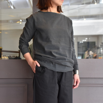 YAECA(ヤエカ) L/S Tシャツ C.GREY 09015CGR-AA