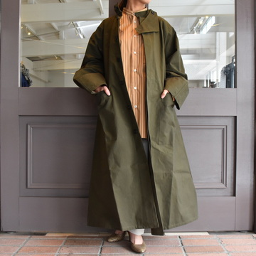 CristaSeya(クリスタセヤ)/ OVERSIZED COTTON TRENCH (Khaki)